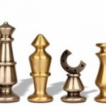 Horseshoe Knight Brass Chess Set