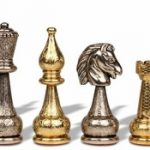 Fiorito Grande Staunton Brass & Nickel Plated Chess Set