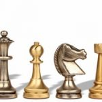 Traditional Staunton Brass Chess Set