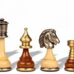Persian Brass & Wood Chess Set