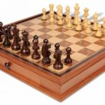 Bohemia Staunton Chess Set in Rosewood & Boxwood with Chess Case – 3.75″ King