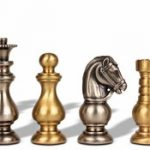 Classic French Brass Chess Set