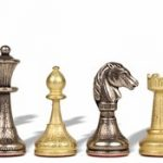 Mini Staunton Brass Chess Set
