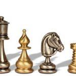 Classic Persian Brass Chess Set