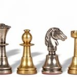 Miniature Staunton Brass Chess Set by Italfama