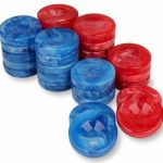 Marblized Backgammon Chips Blueberry & Cherry – 1.25″