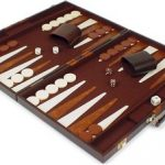 Brown & Tan Stripe Backgammon Set – Medium Attache