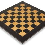 Black & Ash Burl High Gloss Deluxe Chess Board 1.75″ Squares