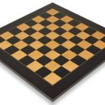 Black & Ash Burl High Gloss Deluxe Chess Board 2″ Squares