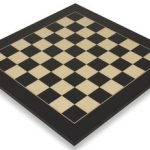 Black & Erable Deluxe Chess Board – 2.375″ Squares