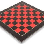 Tulip Red & Black High Gloss Deluxe Chess Board – 2.375′ Squares