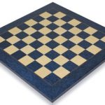 Blue Ash Burl & Erable High Gloss Deluxe Chess Board – 2″ Squares