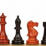 British Staunton Chess Set in Ebony & African Padauk – 4″ King