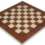 Brown Ash Burl & Erable High Gloss Deluxe Chess Board – 2.375″ Squares