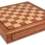 Bubinga & Bird's-eye Maple Chess Case – 2″ Squares