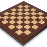 Bud Rosewood & Maple Molded Edge Chess Board – 2.125″ Squares