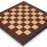 Bud Rosewood & Maple Molded Edge Chess Board – 2.375″ Squares