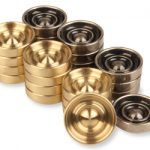 Brass & Nickel Checkers –  1.75″
