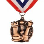 Chess Medal with Ribbon – Bronze