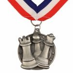 Chess Medal with Ribbon – Silver