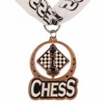 Chess Spin Medal Award with Ribbon – Bronze