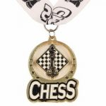 Chess Spin Medal Award with Ribbon – Gold