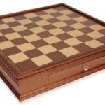 Walnut Chess Case with Drawers – 21″
