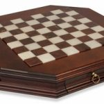 Alabaster Octagon Chess Case