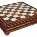 Alabaster & Wood Chess Case