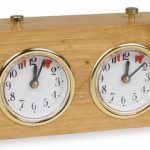 TCS Standard Wood Chess Clock – Natural