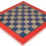 Civil War Blue & Gray High Gloss Deluxe Chess Board – 1.75″ Squares