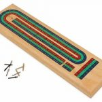 Beech Wood 3 Color Track Cribbage Board
