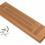 Solid Golden Oak 3 Track Cribbage Board