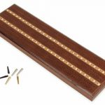 Solid Dark Oak 3 Track Cribbage Board