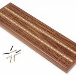 Solid Walnut Sprint 2 Track Cribbage Board