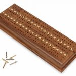 3 Track Walnut Cribbage Board & Case