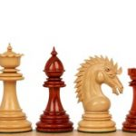 Cyrus Staunton Chess Set in African Padauk & Boxwood – 4.4″ King