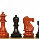 Deluxe Old Club Staunton Chess Set in Ebony & African Padauk – 3.75″ King