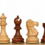 Deluxe Old Club Staunton Chess Set in Golden Rosewood & Boxwood – 3.75″ King