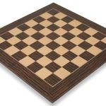 Tiger Ebony & Maple Deluxe Chess Board – 2.125″ Squares