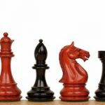 Fierce Knight Staunton Chess Set in Ebony & African Padauk – 3.5″ King