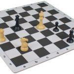 Floppy Chess Board Black & Buff – 2.375″ Squares