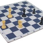 Floppy Chess Board Blue & Buff – 2.25″ Squares