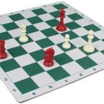 Floppy Chess Board Green & Buff – 2.25″ Squares