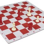 Floppy Chess Board Red & Buff – 2.25″ Squares
