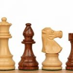French Lardy Staunton Chess Set in Golden Rosewood & Boxwood – 3.25″ King