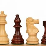French Lardy Staunton Chess Set in Rosewood & Boxwood – 3.25″ King