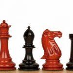 Grande Staunton Chess Set in Ebony & African Padauk – 3″ King
