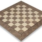 Gray Ash Burl & Erable High Gloss Deluxe Chess Board – 2″ Squares