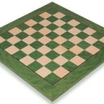 Green Ash Burl & Erable High Gloss Deluxe Chess Board – 1.75″ Squares